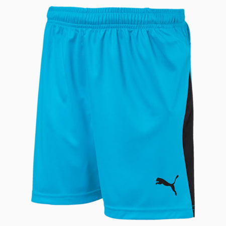 LIGA Kids' Football Shorts, AQUARIUS-Puma Black, small