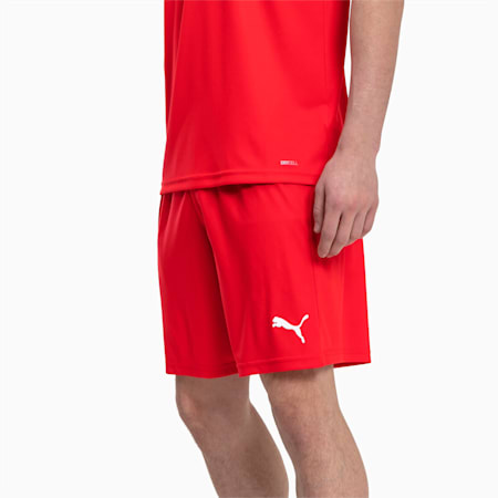 Football Men's LIGA Core Shorts, Puma Red-Puma White, small