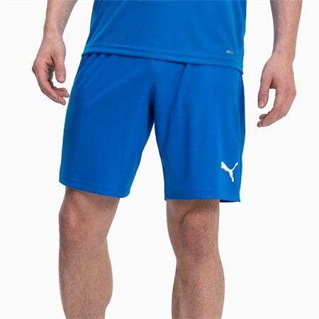 Liga Core Men's Shorts, Electric Blue Lemonade-White, small
