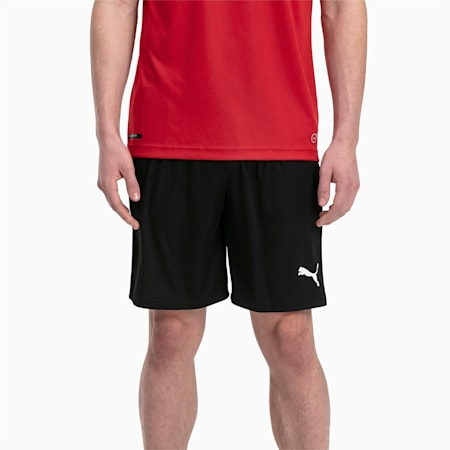Meskie szorty pilkarskie Liga Core, Puma Black-Puma White, small