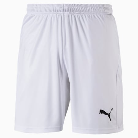 Football Men's LIGA Core Shorts, Puma White-Puma Black, small-IND