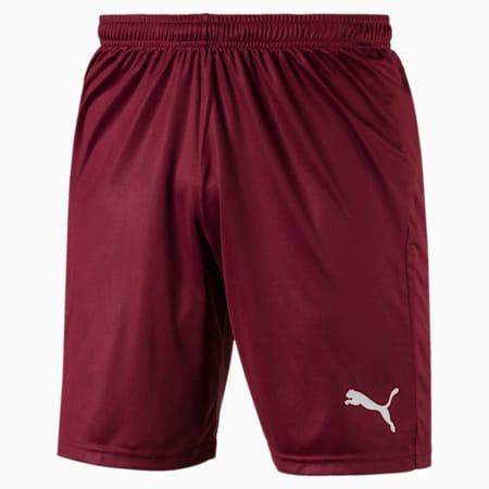 Fußball Herren LIGA Core Shorts, Cordovan-Puma White, small