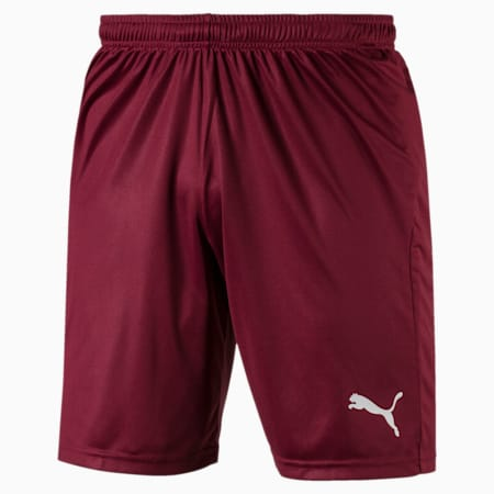 Short Football LIGA Core pour homme, Cordovan-Puma White, small
