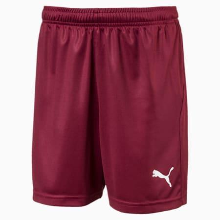 Football Kids' LIGA Core Shorts, Cordovan-Puma White, small