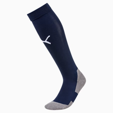 Football Men's LIGA Core Socks, Peacoat-Puma White, small-GBR