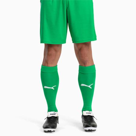 Football Men's LIGA Core Socks, Bright Green-Puma White, small