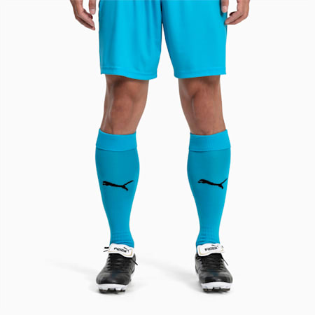 Football Men's LIGA Core Socks, AQUARIUS-Puma Black, small