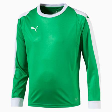 LIGA Kids' Goalkeeper Jersey, Bright Green-Puma White, small