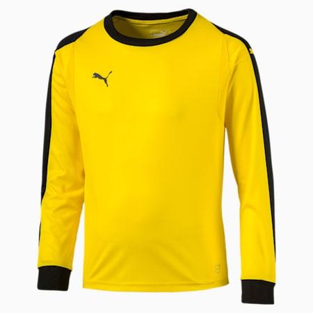 LIGA Kids' Goalkeeper Jersey, Cyber Yellow-Puma Black, small