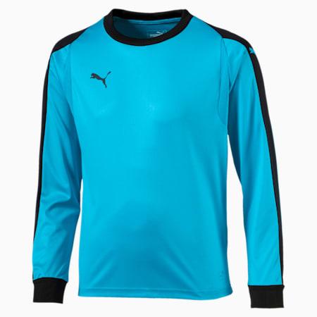 LIGA Kids' Goalkeeper Jersey, AQUARIUS-Puma Black, small