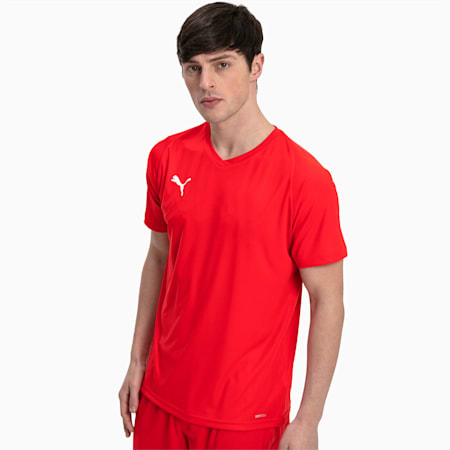 Camiseta de fútbol para hombre LIGA Core, Puma Red-Puma White, small