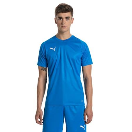 Fußball Herren LIGA Core Trikot, Electric Blue Lemonade-White, small