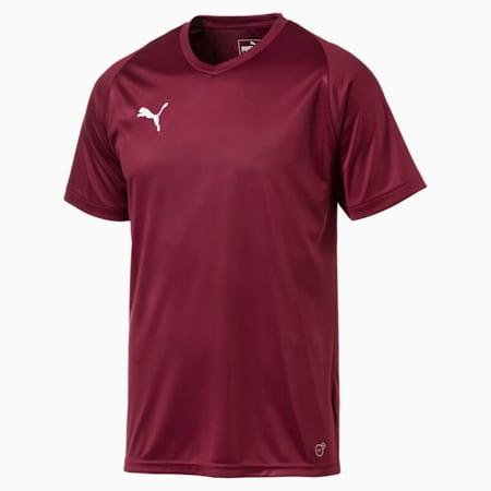 Football Men's LIGA Core Jersey, Cordovan-Puma White, small-GBR