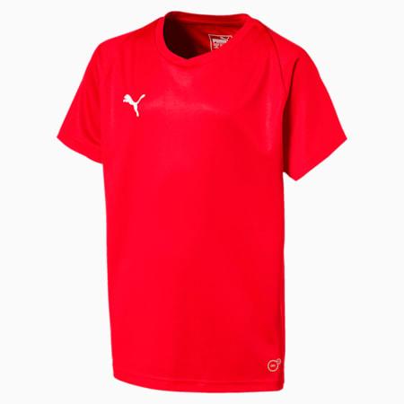 Liga Core Junior Football Jersey, Puma Red-Puma White, small