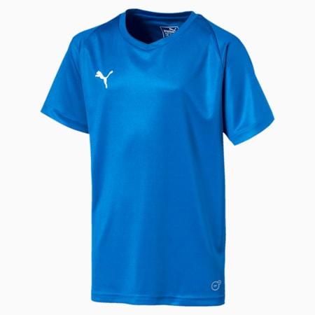 Liga Core Junior Football Jersey, Electric Blue Lemonade-White, small