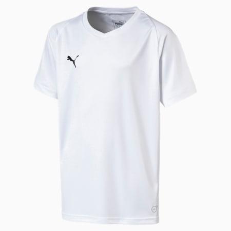 Camiseta de fútbol para joven Liga Core, Puma White-Puma Black, small