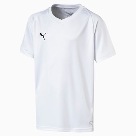 Football Kids' LIGA Core Jersey, Puma White-Puma Black, small