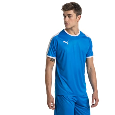 LIGA ゲームシャツ, Electric Blue Lemonade-White, small-JPN