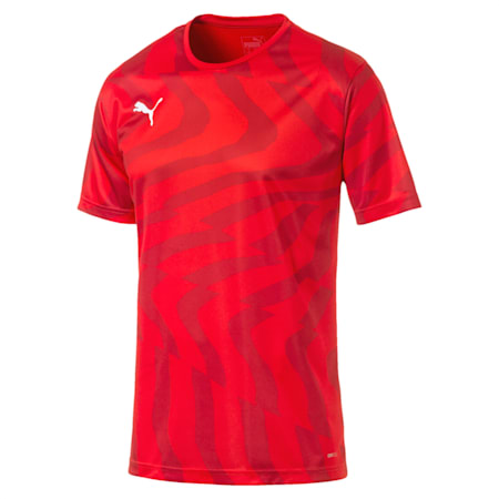 CUP Core dryCELL Men's Football Jersey, Puma Red-Puma White, small-IND