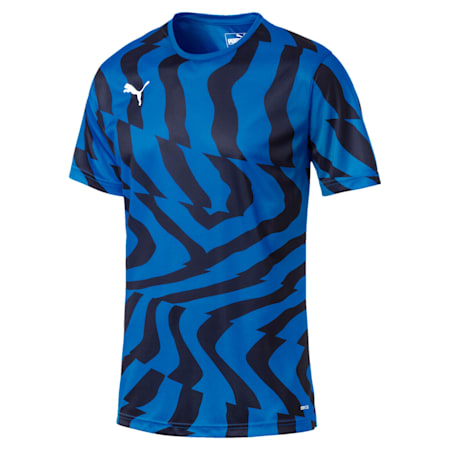 CUP Core dryCELL Men's Football Jersey, Electric Blue-Puma White, small-IND