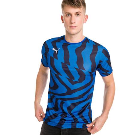 Meska koszulka pilkarska CUP Core, Electric Blue-Puma White, small