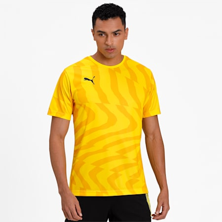 CUP Core dryCELL Men's Football Jersey, Cyber Yellow-Puma Black, small-IND