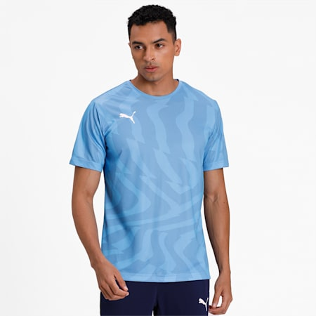 CUP Core dryCELL Men's Football Jersey, Silver Lake Blue-Puma White, small-IND