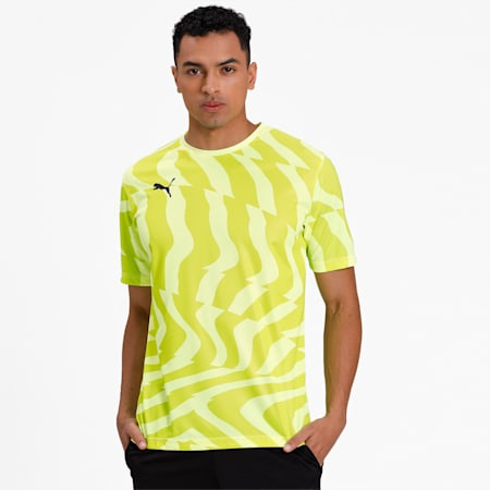 CUP Core dryCELL Men's Football Jersey, Fizzy Yellow-Puma Black, small-IND