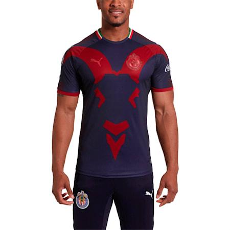 Chivas Alt Rep 18 Men's Shirt, Peacoat-Chili Pepper, small