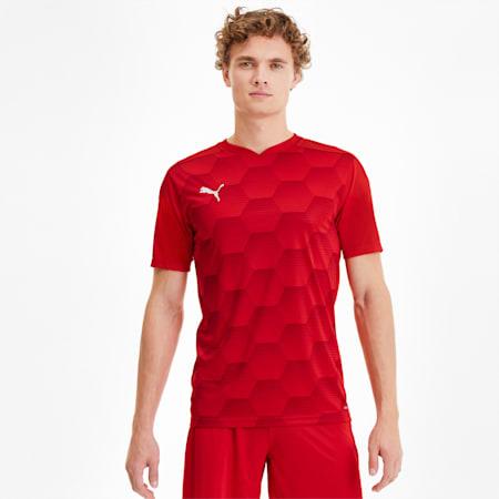 FINAL grafisch voetbalshirt voor heren, Puma Red-Chili Pepper, small