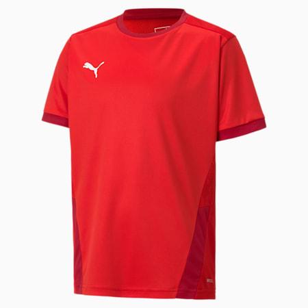 Camiseta de fútbol teamGOAL para niño, Puma Red-Chili Pepper, pequeño