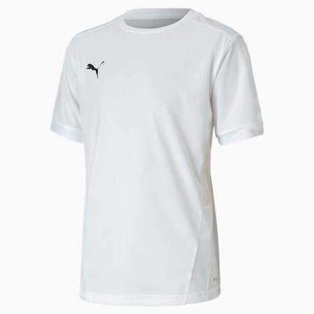 Camiseta de fútbol teamGOAL para niño, Puma White-Puma White, pequeño
