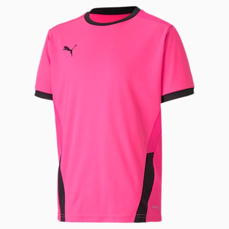 Camiseta de fútbol teamGOAL para niño, Fluo Pink-Puma Black, pequeño