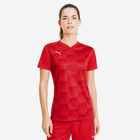 teamFINAL 21 Graphic Women's Football Jersey, Puma Red-Chili Pepper, small-IND