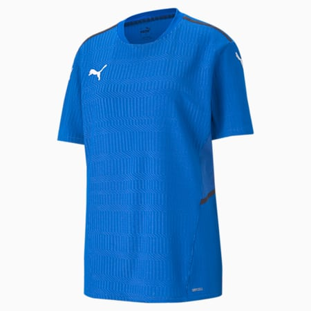 teamCUP Men's Football Relaxed Jersey, Electric Blue Lemonade, small-IND