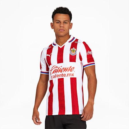 Chivas 20-21 Men's Home Jersey, Puma Red-Puma White, small