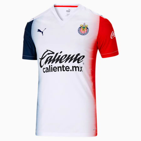 Chivas 2020/21 Men's Away Replica Shirt, Puma White, small