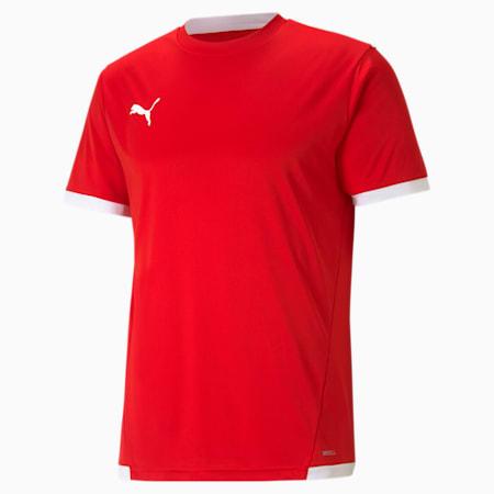 Męska koszulka piłkarska teamLIGA, Puma Red-Puma White, small