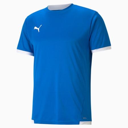 Męska koszulka piłkarska teamLIGA, Electric Blue Lemonade-Puma White, small
