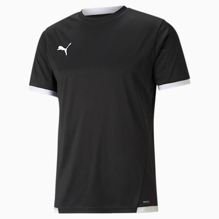 Męska koszulka piłkarska teamLIGA, Puma Black-Puma White, small
