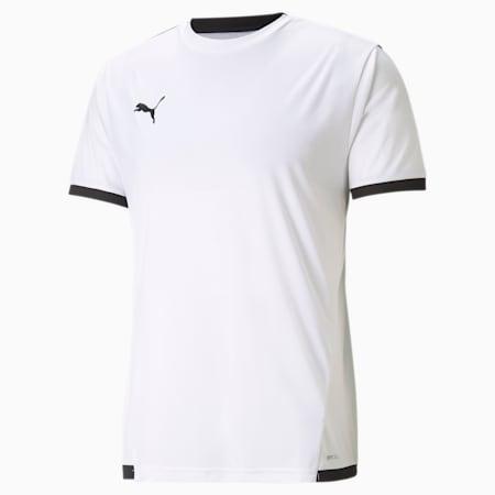 teamLIGA Men's Football Jersey, Puma White-Puma Black, small