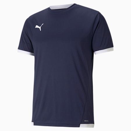 teamLIGA Men's Football Jersey, Peacoat-Puma White, small