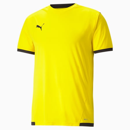 teamLIGA Men's Football Jersey, Cyber Yellow-Puma Black, small