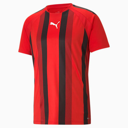 teamLIGA Striped Men's Football Jersey, Puma Red-Puma Black-Puma White, small