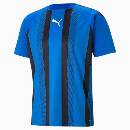 Maillot de football à rayures teamLIGA homme, Electric Blue Lemonade-Puma Black-Puma White, small