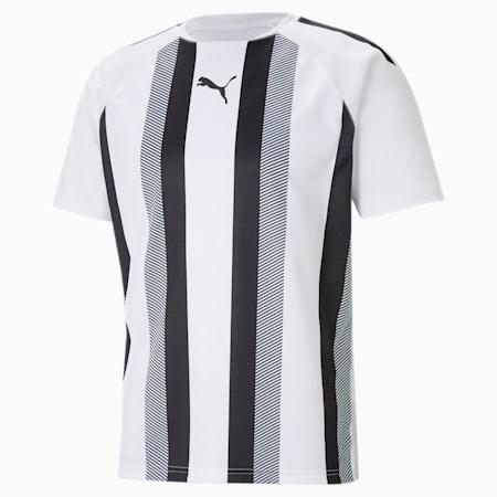 Maillot de football à rayures teamLIGA homme, Puma White-Puma Black, small