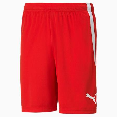 teamLIGA Men's Football Shorts, Puma Red-Puma White, small-GBR