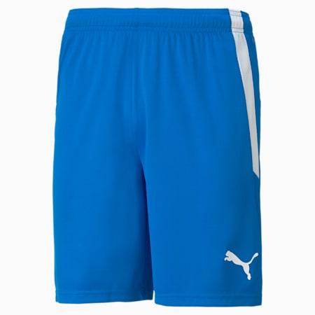 teamLIGA Men's Football Shorts, Electric Blue Lemonade-Puma White, small