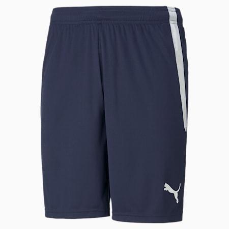 teamLIGA Men's Football Shorts, Peacoat-Puma White, small