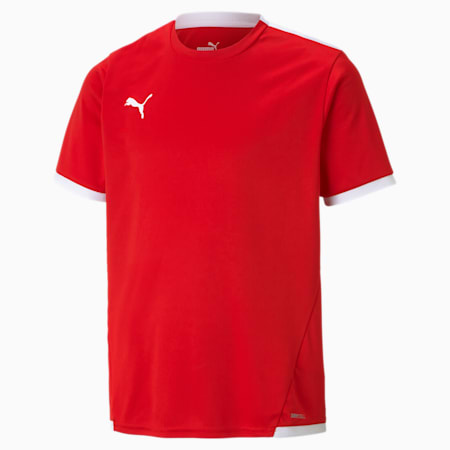 teamLIGA Youth Football Jersey, Puma Red-Puma White, small